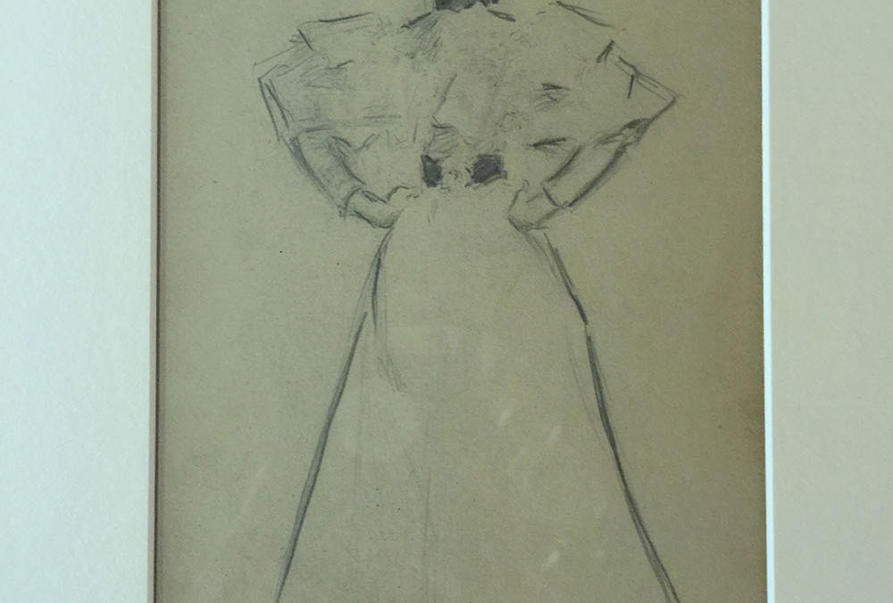 Original A.B. Frost Pencil Drawing C. 1900