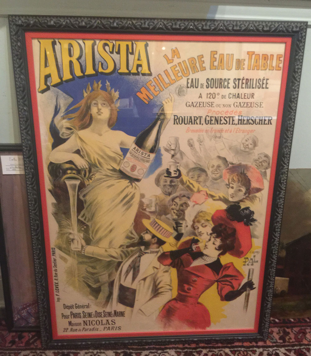 """""""Arista"""" Bottled Water French Poster C. 1900"""