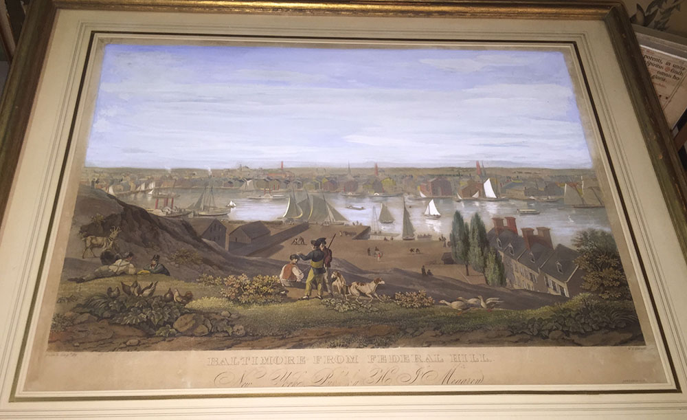 """View of Baltimore from Federal Hill"" William Bennet 1831"
