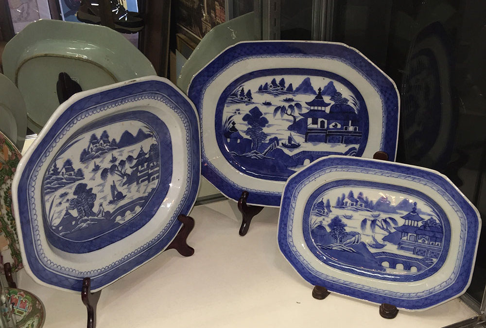 Antique 19th C. Chinese Canton Platters