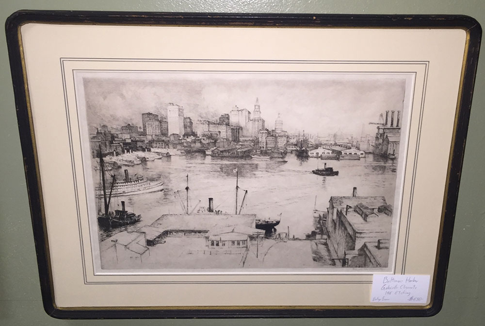 "Gabrielle Clements ""Baltimore Harbor"" Etching 1926"