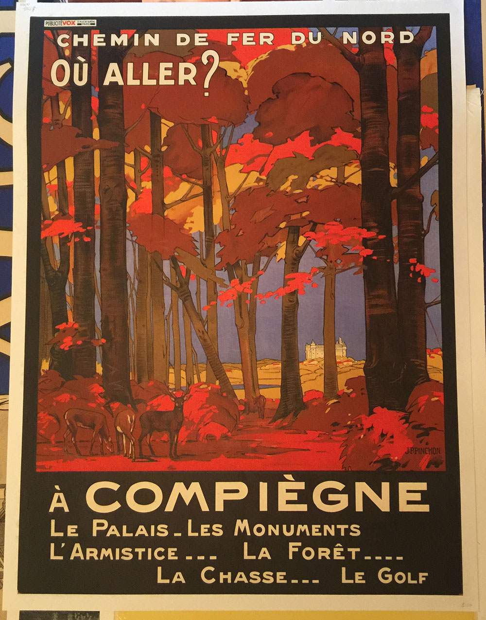 Compiegne French Travel Poster C.1925