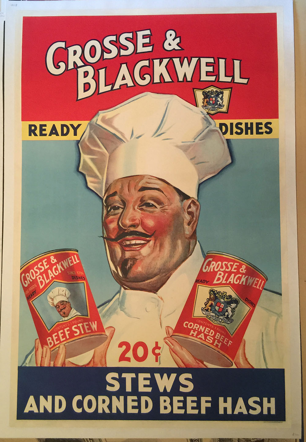 Crosse & Blackwell Co. 1930s Ad Poster