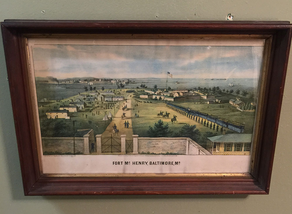 """Fort McHenry. Baltimore MD"" Lithograph 1862"