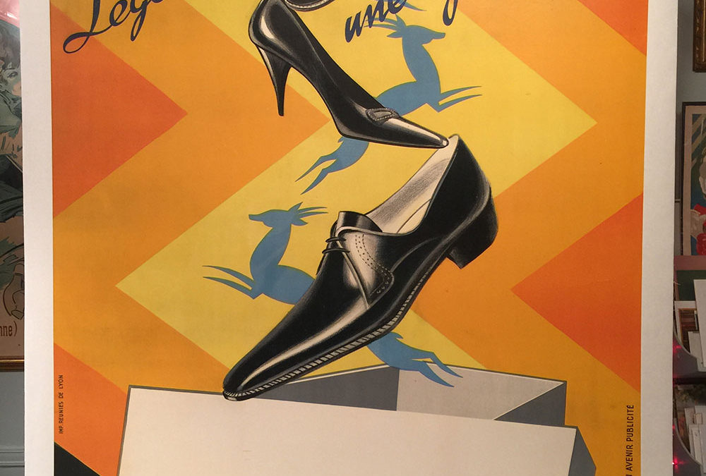 Gazelle (Shoes) 1930s French Ad Poster