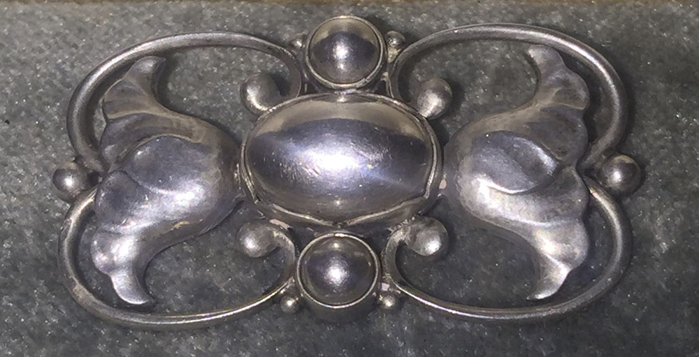 Georg Jensen  1930s Sterling Brooch