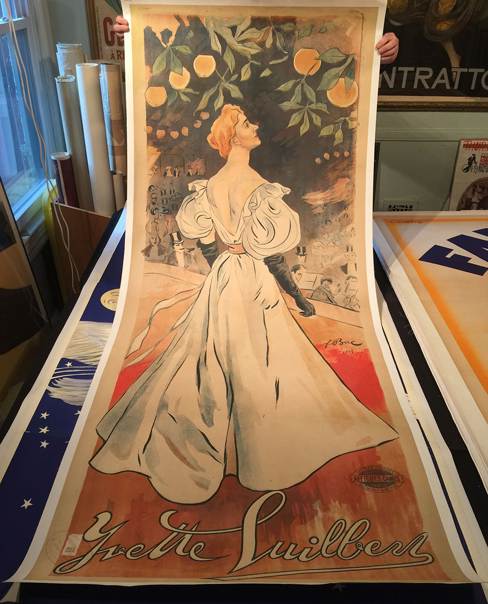 """""""Yzette Guilbert"""" 1895 French Singer/Actress Poster"""