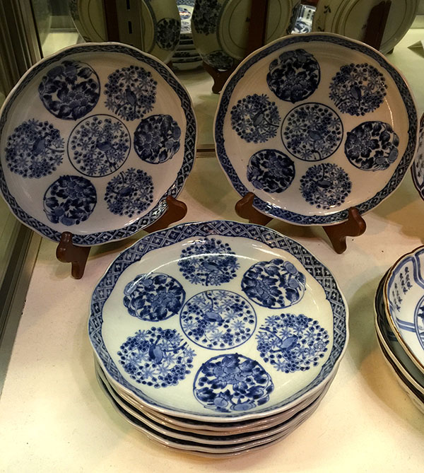 "Antique Set Japanese ""Old Imari"" Plates 19th C."