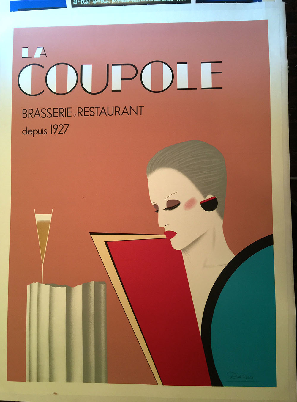 """La Coupole"" Contemporary Paris Restaurant Poster"