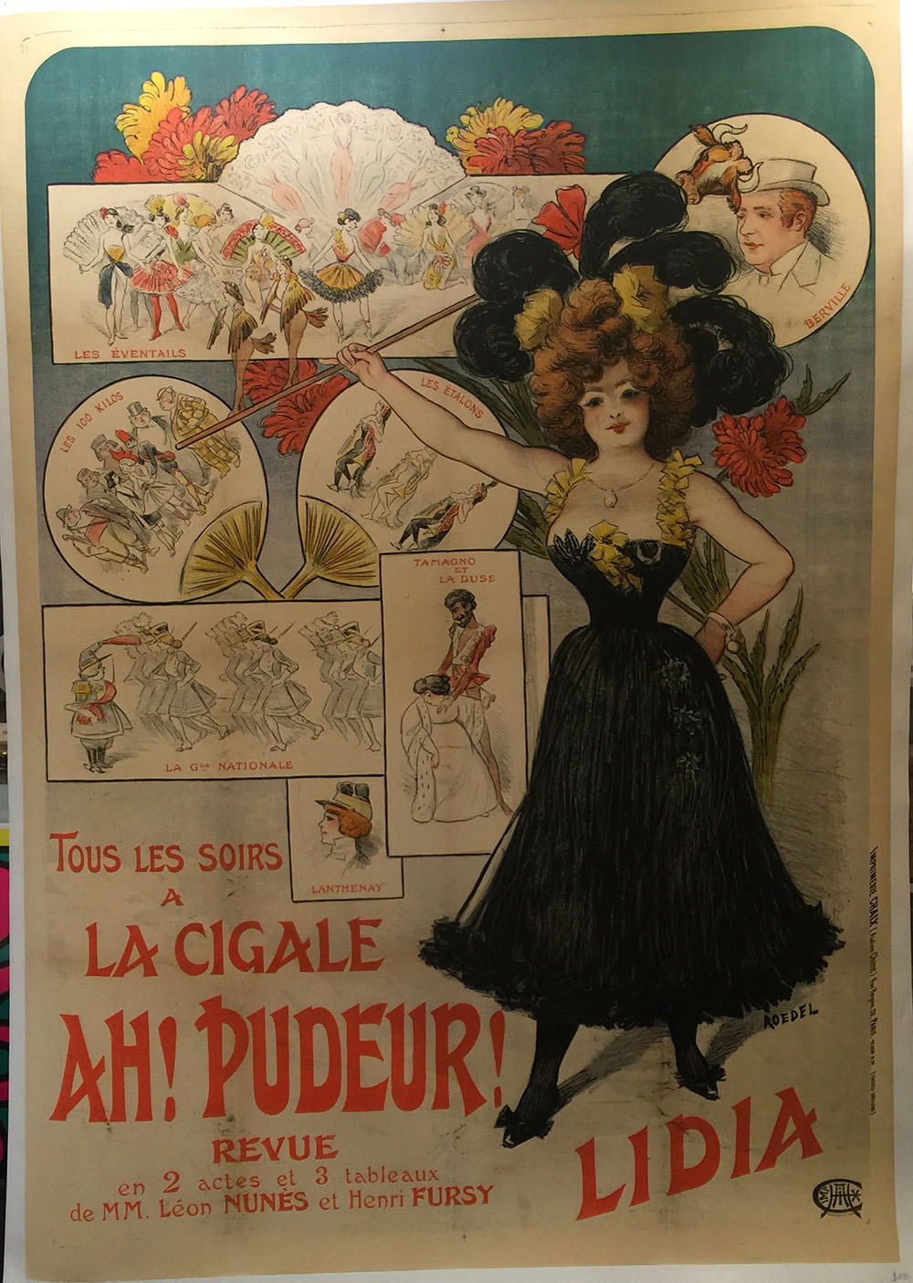 """Lidia"" French Theatrical Poster C.1900"