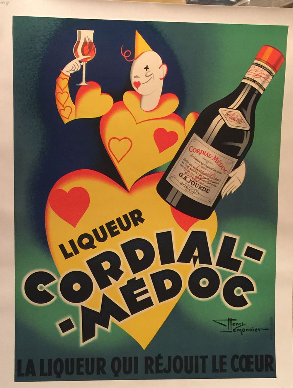 """Cordial-Medoc"" Antique French Liqueur Ad C.1935"