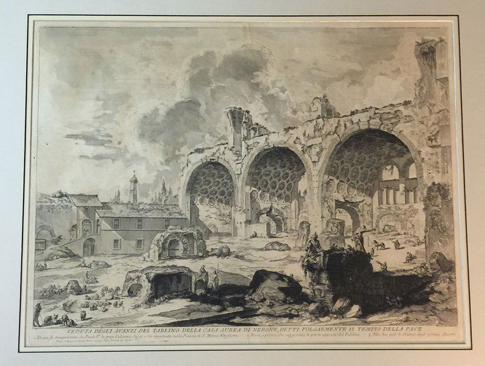 View of Roman Ruins – Piranesi Etching C.1760s