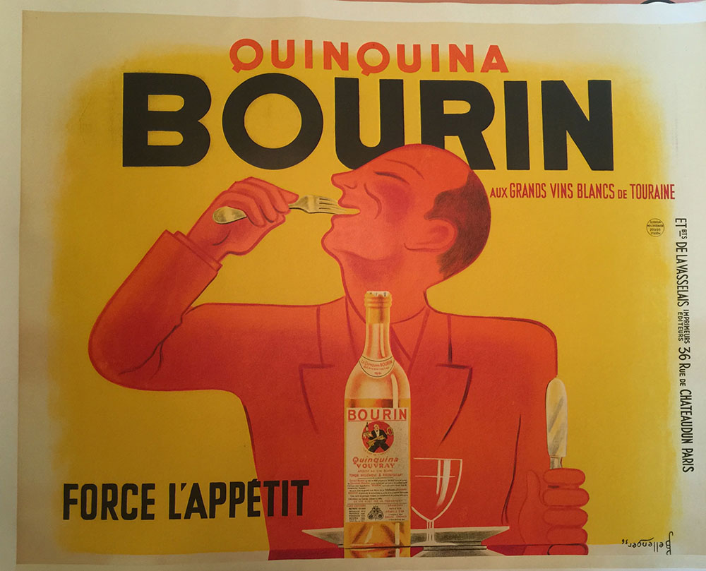 """Quinquina Bourin"" 1930s French Wine Poster"