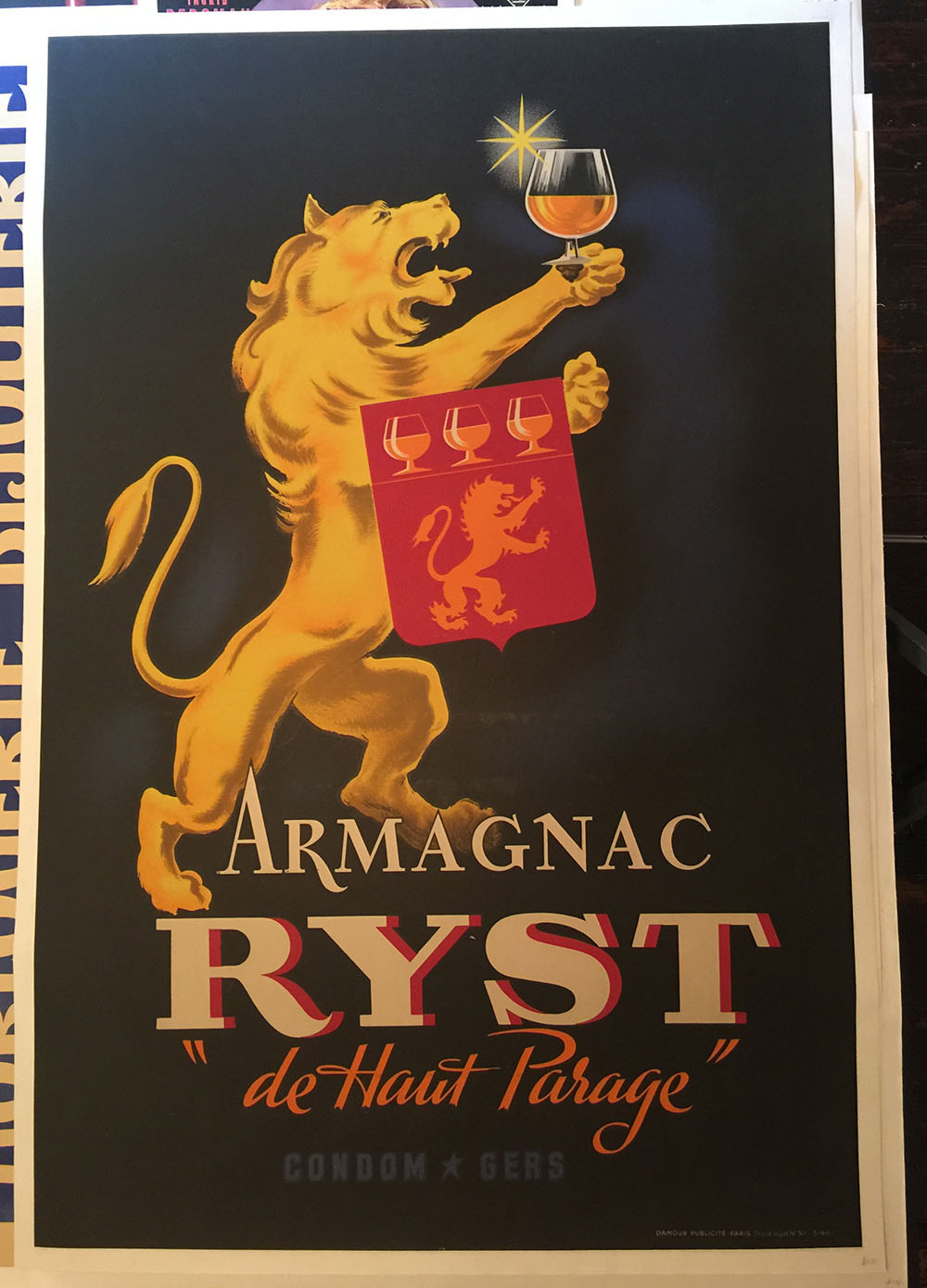 """Armagnac Ryst"" Vintage French Poster C. 1946"