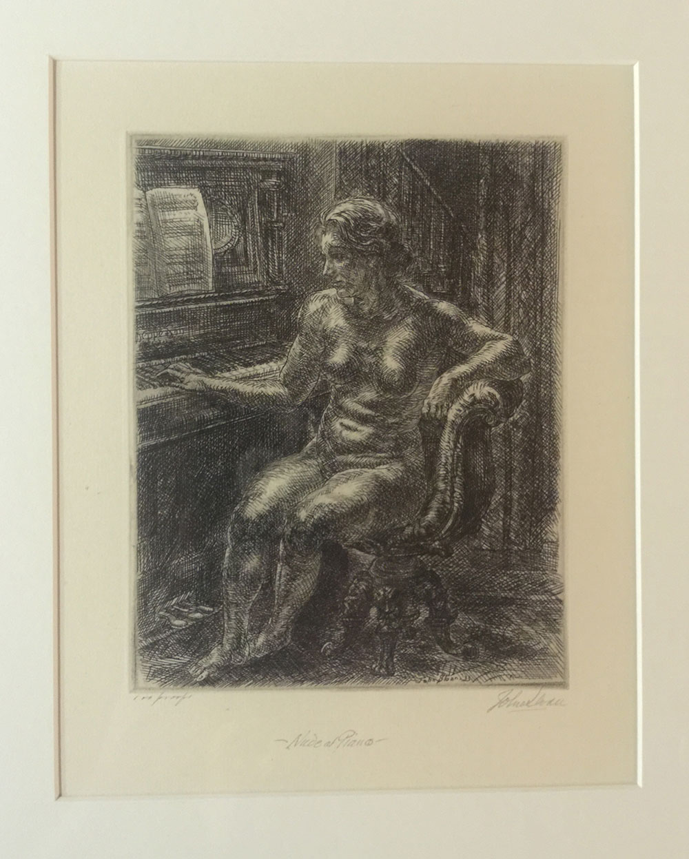 """Nude at Piano"" John Sloan"