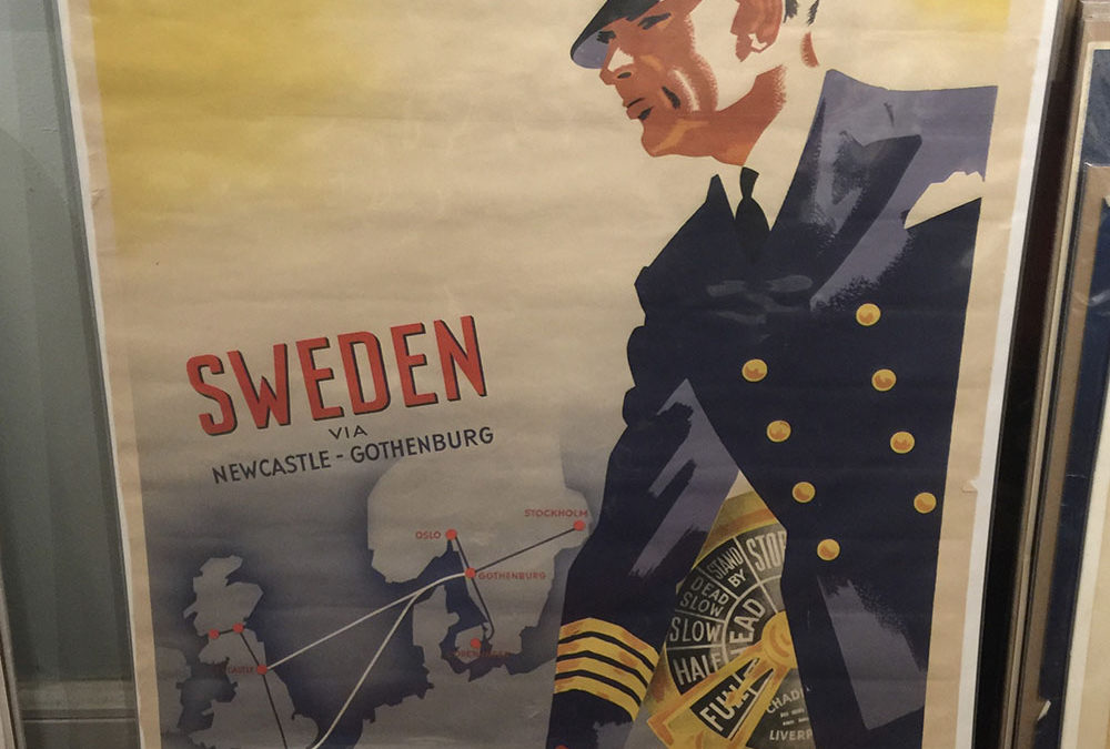 1937 Swedish LLoyd Steamship Co Travel Poster