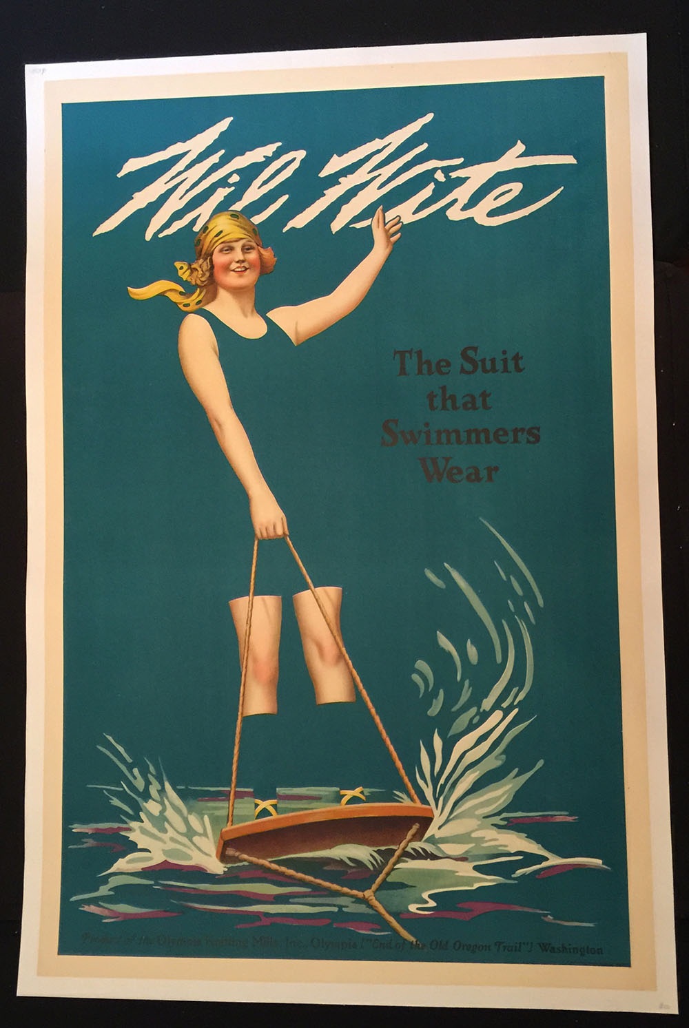 Wil Whit Swimwear 1930s Ad Poster