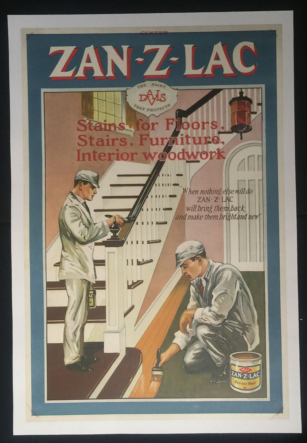 """Zan-Z-Lac"" Paint Poster 1930s Baltimore"